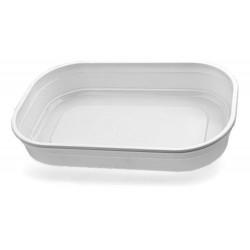 Контейнер полистирольный прямоугольный для холодных блюд  202*132*35мм, белый