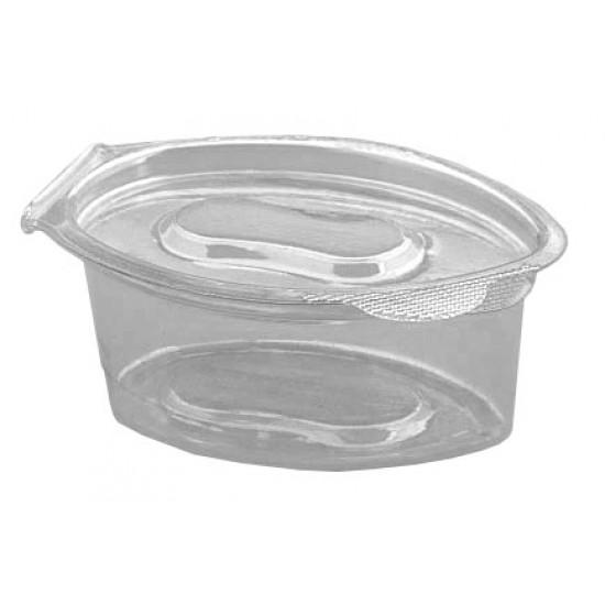 Соусник с неразъемной крышкой овальный прозрачный РЕТ 30мл