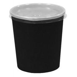 Контейнер бумажный для супа и вторых блюд  черный 500мл,  Ǿ=98мм, h=100мм