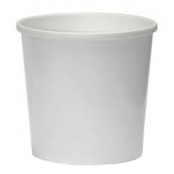 Контейнер бумажный для супа и вторых блюд  белый 300мл,  Ǿ=90мм, h=85мм