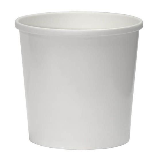 Контейнер бумажный 300мл   Белый 2PE Ø=90мм, h=85мм