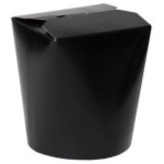Коробка бумажная для лапши (Паста Бокс) 750мл | Черная/Белая 2PE Ø=95мм, h=95мм