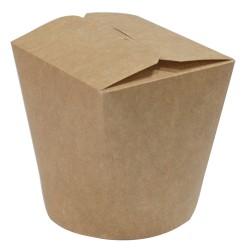 Коробка бумажная для лапши (Паста Бокс) | крафт 500 мл 1РЕ | Ǿ=82мм, h=90мм