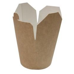 Коробка бумажная для лапши (Паста Бокс) | крафт 750 мл 1РЕ | Ǿ=95мм, h=95мм