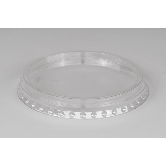 Крышка РЕТ прозрачная плоская с X-отверстием Ǿ=95мм, h=13,5мм