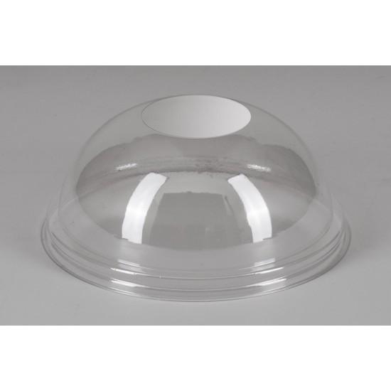 Крышка купол PET без отверстия   Прозрачная Ø=95мм, h=40мм