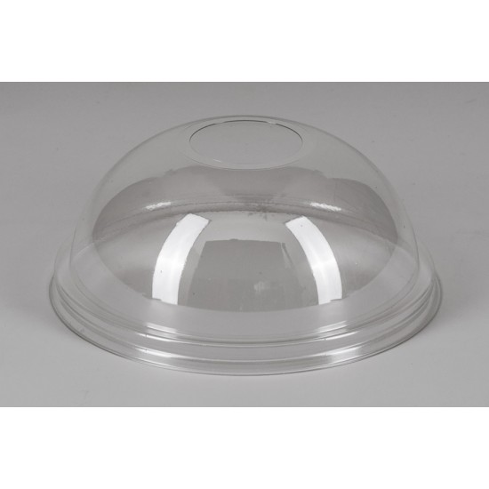 Крышка РЕТ прозрачная купол с отверстием Ǿ=95мм