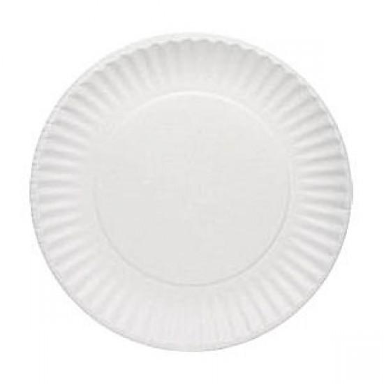 Тарелка бумажная Ǿ=180мм, 2РЕ, белая