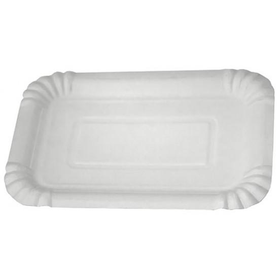 Тарелка бумажная | Белая 2PE 200*140мм