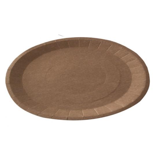 Тарелка бумажная плоская Ø=230мм | Крафт