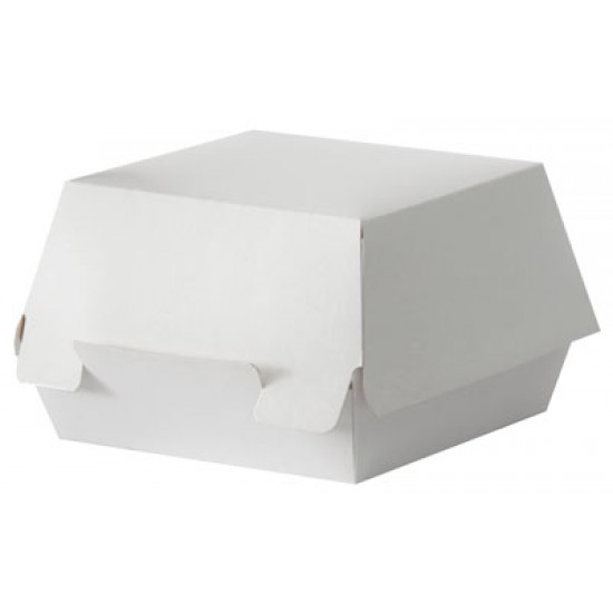 Коробка бумажная под бургер малая | Белая 94*94*70мм
