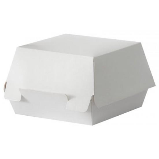 Коробка бумажная под бургер большая 117*117*70мм белая