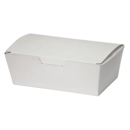 Коробка бумажная для снеков, суши малая | Белая 130*88*48мм