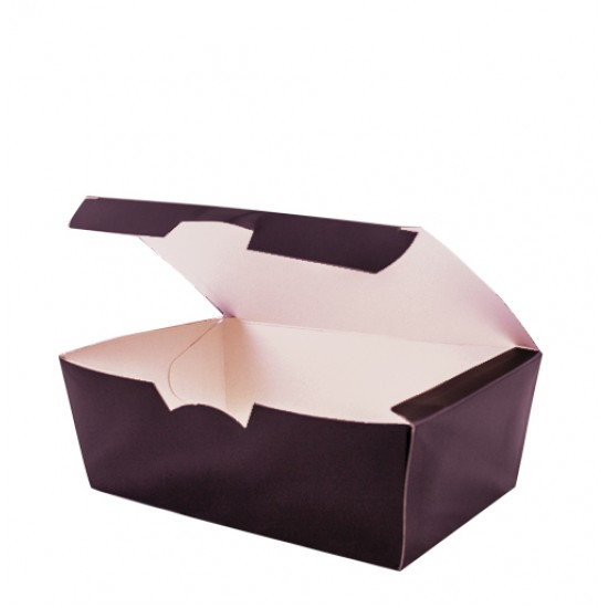 Коробка бумажная для снеков, суши большая | Черная 165*105*58мм