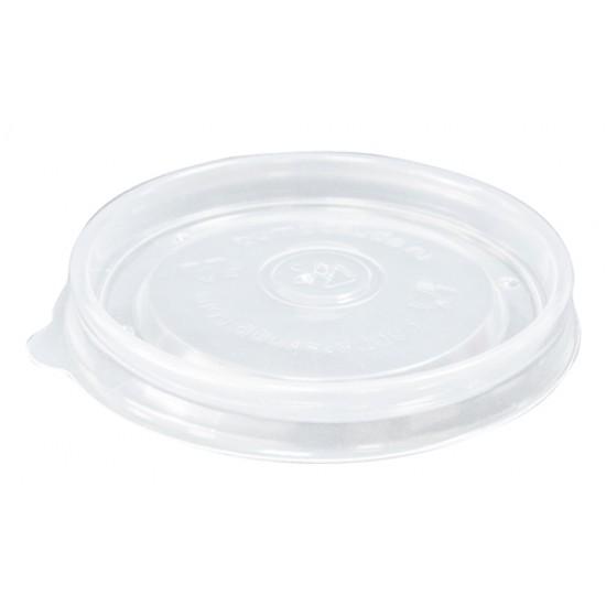 Крышка плоская PP Ø=90мм | Прозрачная для супового контейнера