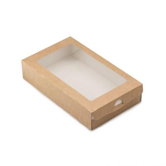 Коробка-пенал бумажная 200*120*40мм, 1РЕ крафт