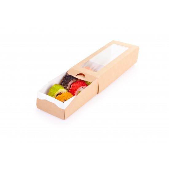 Коробка-пенал бумажная 170*70*40мм, 1РЕ крафт