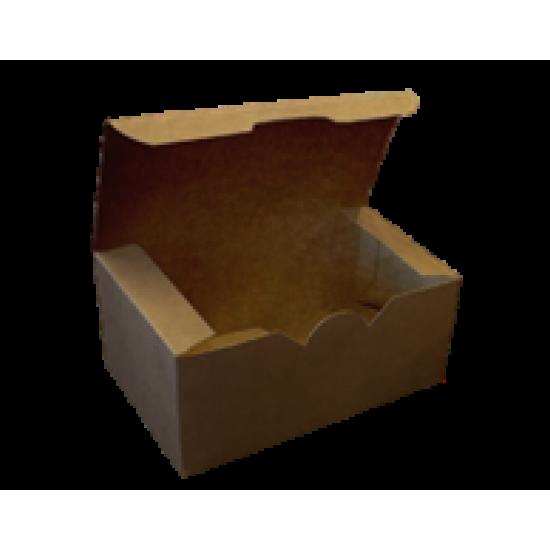Коробка бумажная для снеков большая 150*91*70мм крафт