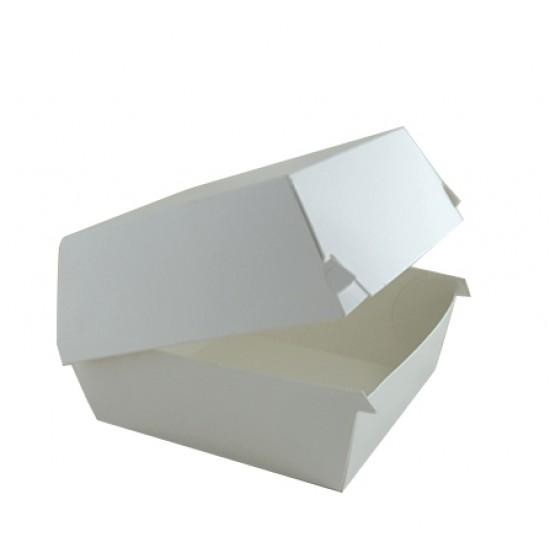 Коробка бумажная под бургер высокая | Белая 118*118*86мм