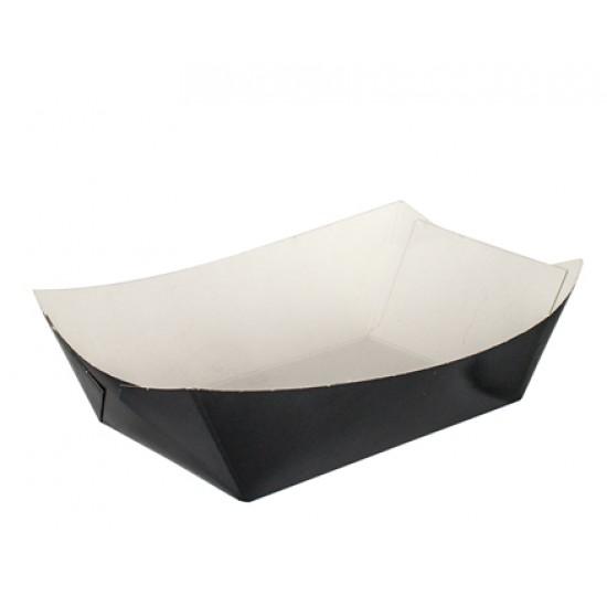 Тарелка-лодочка бумажная малая 106*72*42мм черная