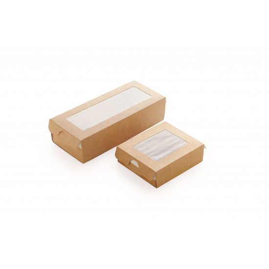 Коробка-пенал бумажная 100*80*30мм, 1РЕ крафт