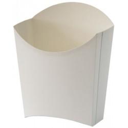 Коробка бумажная для картошки фри XL (большая) 77*163мм белая