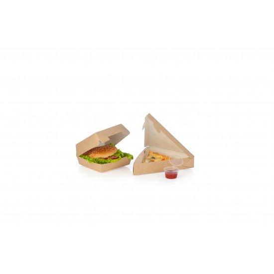 Коробка под кусочек пиццы треугольная 220*200*40мм