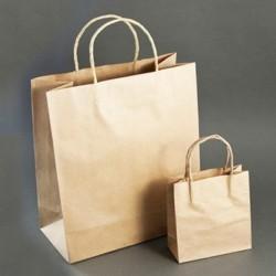 Крафт пакет бумажный с кручеными ручками 250*150*350мм