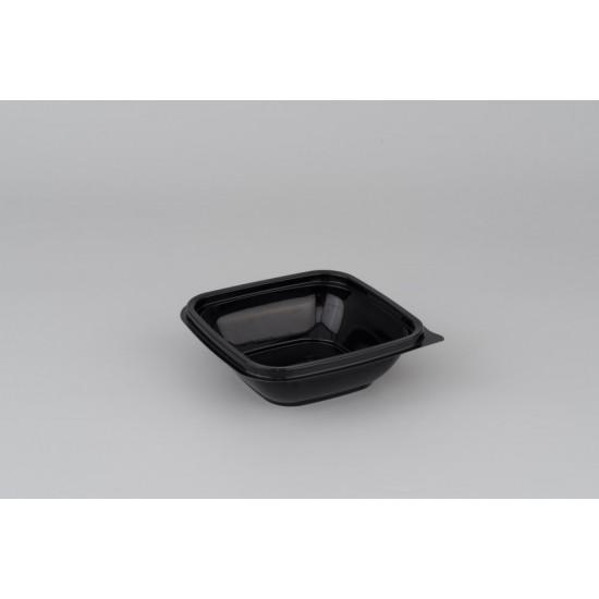 Контейнер квадратный черный РР для вторых блюд 126*126*38,5мм, 250мл