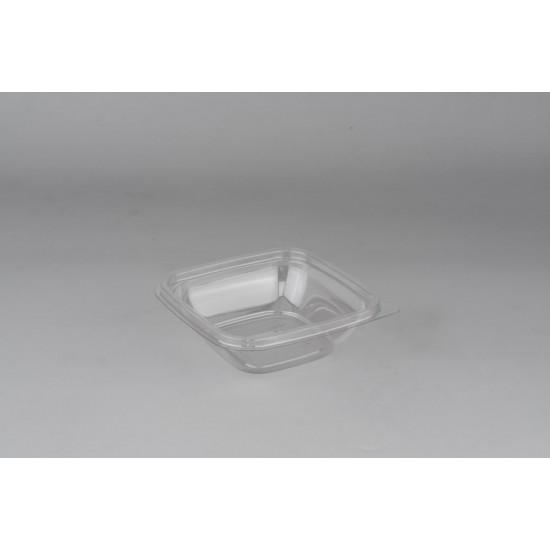 Контейнер квадратный полупрозрачный РР для вторых блюд 126*126*38,5мм, 250мл