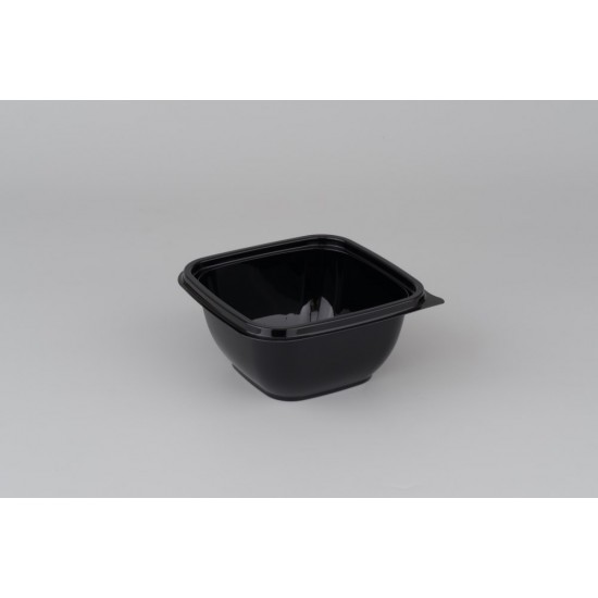 Контейнер квадратный PET 375мл | Черный 126*126*51,5мм