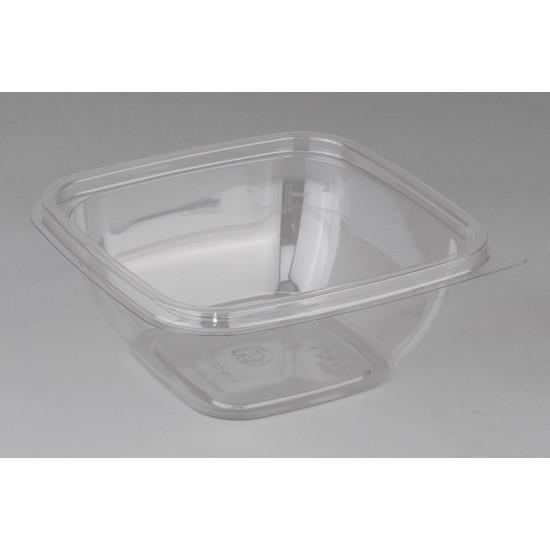 Контейнер квадратный прозрачный РЕТ для салата 126*126*51,5мм, 375мл