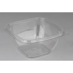 Контейнер квадратный прозрачный РЕТ для салата 126*126*60мм, 500мл