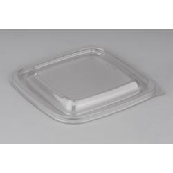 Крышка полупрозрачная квадратная РР для контейнеров 126*126*13мм