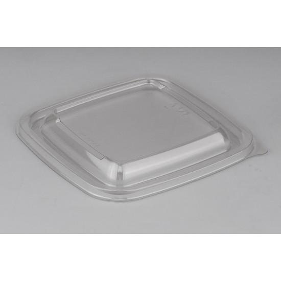 Крышка прозрачная квадратная РЕТ для контейнеров 126*126*13мм