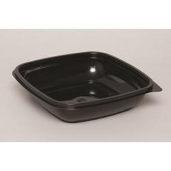 Контейнер квадратный черный РЕТ для салата  190*190*41,5мм, 750мл