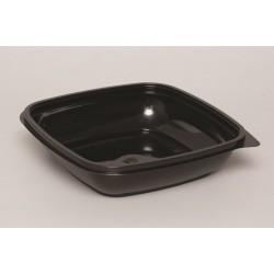 Контейнер квадратный черный РЕТ для салата  190*190*51,5мм, 1000мл