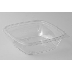 Контейнер квадратный прозрачный РЕТ для салата 190*190*67мм, 1250мл