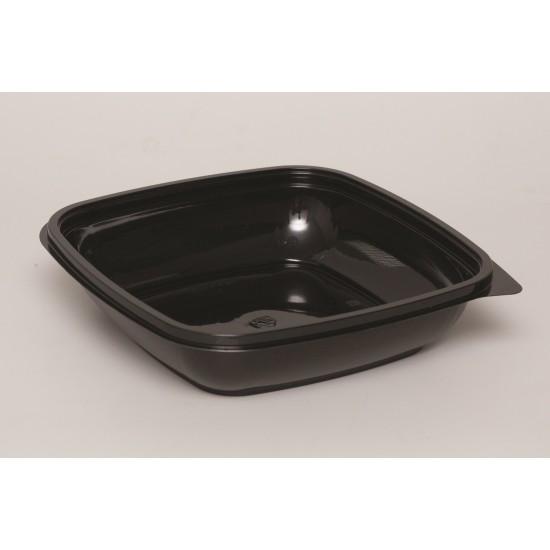 Контейнер квадратный черный РЕТ для салата  190*190*67мм, 1250мл