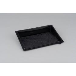 Контейнер черный для суши малый (витрина, дно, без делений) РЕТ  183*128*32мм
