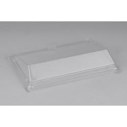 Крышка  прозрачная скошенная для малого контейнера-витрины РЕТ 183*128*32мм