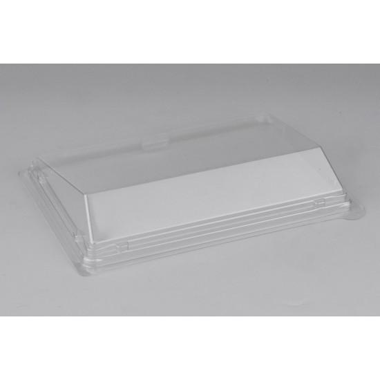 Крышка скошенная PET   Прозрачная для малого контейнера-витрины 183*128*32мм