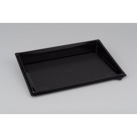 Контейнер PET | Черный для суши большой (витрина, дно, без делений) 235*162*32мм