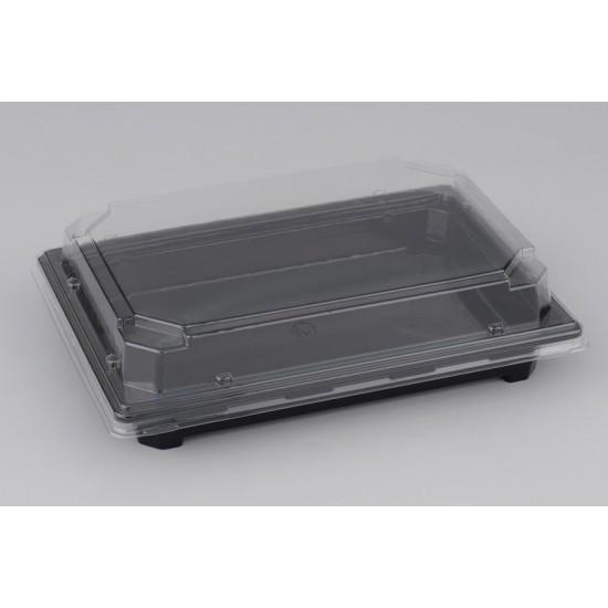 Контейнер прямоугольный PET | Черный для суши малый 188*134*30мм