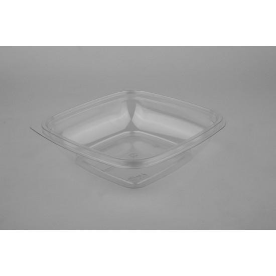Контейнер квадратный прозрачный РЕТ для салата  160*160*30мм, 375мл