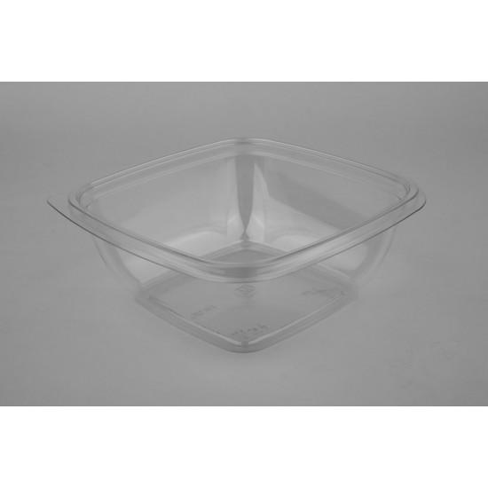 Контейнер квадратный прозрачный РЕТ для салата  160*160*50мм, 625мл
