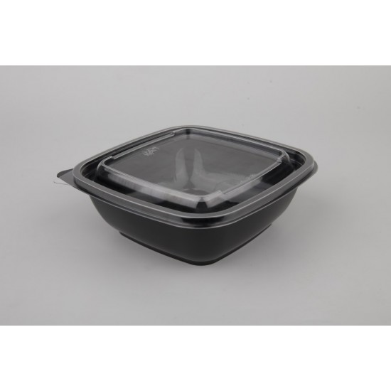 Крышка прозрачная квадратная РЕТ для контейнеров 160*160*13мм
