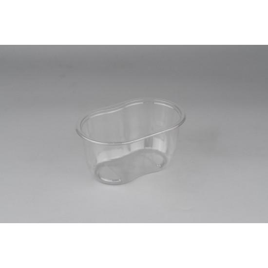 """Контейнер РЕТ """"ванночка"""" для салата, десерта прозрачный, 500мл, 141*92*68,5мм"""