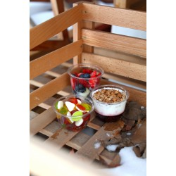 "Контейнер для салата, десертов ""Конус"" прозрачный РЕТ, Ǿ=95мм, h=65мм, 250мл"