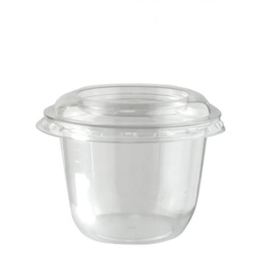 """Крышка для контейнера """"Конус""""плоская прозрачная РЕТ, Ǿ=95мм"""